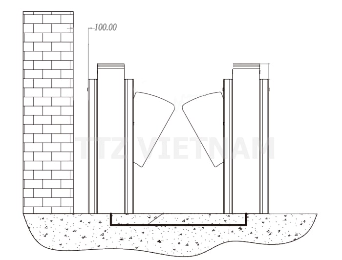 nền móng thi công flap barrier